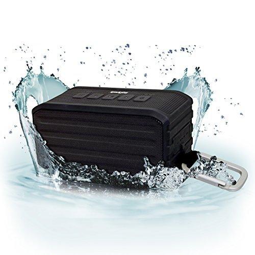 igadgitz U3660 IGA-370IPX4impermeabile Bluetooth Mini altoparlante stereo portatile (Bluetooth 4.0/uscita di 7W) con clip moschettone