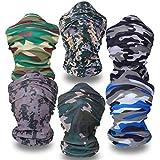 ECOMBOS 6pcs Multifunktionstuch Stirnbänder bandana - elastischer nahtloser Magie Schal 25 * 50cm 6 * camo