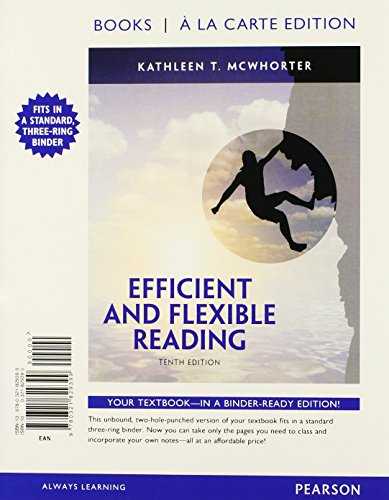 Efficient and Flexible Reading, Books a la Carte Edition (10th Edition)