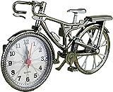 DFGBXCAW Reloj Despertador Retro con números arábigos Vintage, Forma de Bicicleta con Pilas, Reloj Despertador Creativo, Bicicleta de Moda, Reloj para niños, Relojes de Mesa Decorativos