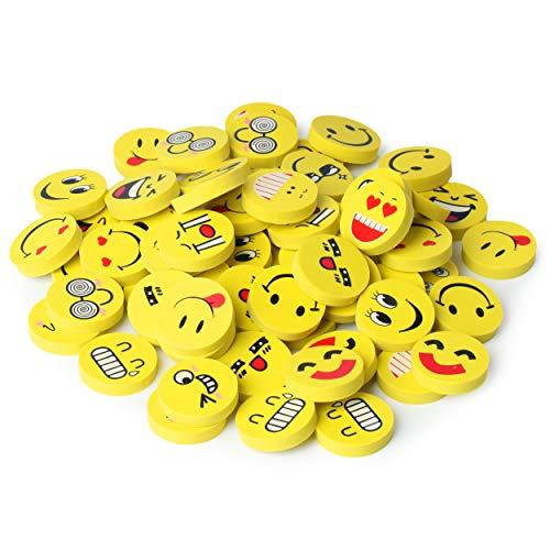 Mr. Pen- Erasers, Pack of 64, Emoji Eraser, Pencil Erasers, Erasers for Kids, School Supplies, Mini Eraser Pencil for Students, Fun Eraser, Cute Erasers, Eraser for School, Prizes for Kids Classroom