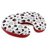 Cuscino Allattamento piccolo - cuscino Neonato premaman e Riduttore Lettino (1. Bianco con il Mouse, 130 x 45 cm)