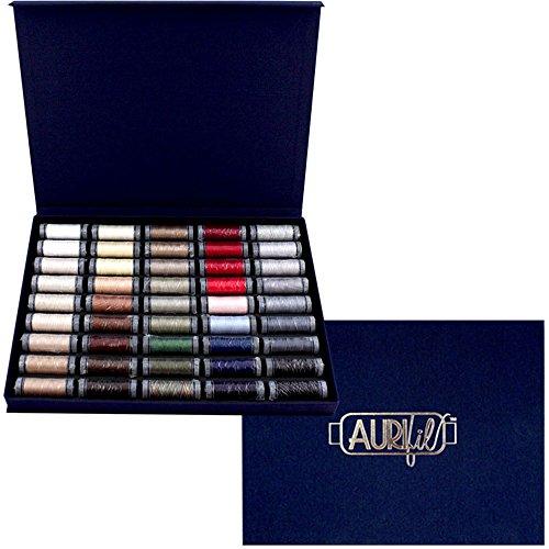 aurifil Best Box Selection Gewinde Kit 28WT Baumwolle 45klein (109YARD) Spulen