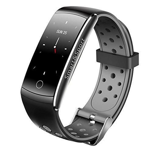 Fitness Tracker, Vivicool Orologio Fitness Activity Tracker Cardio Impermeabile IP68 Bluetooth 4.0 Smartband Bracciale Braccialetto Donna Uomo Fitness Sport Watch per iOS Android Smartphones, Grigio