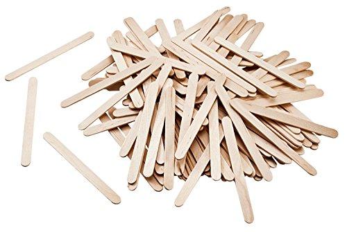 folia 2291 - Holzstäbchen, 114 x 10 x 2 mm, 500 Stück, natur - für vielfältige Bastelarbeiten