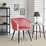 Duhome Dining Chairs Velvet Chair Modern Upholstered Accent Chair Mid Century Pink 1 Pcs