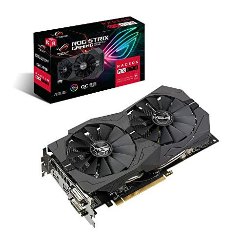 Placa de video asus radeon rx 570 strix oc 8gb ddr5 256 bits - rog-strix-rx570-o8g-gaming