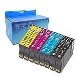 Teng 603XL Cartucho de Tinta Compatible con Epson 603 603XL para Epson Expression Home XP-2100 XP-2105 XP-3100 XP-3105 XP-4100 XP-4105 Workforce WF-2810 WF-2830 WF-2835 WF-2850 (8 Paquetes)