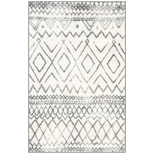 Maples Rugs Abstract Diamond Modern Distressed Kitchen Rugs Non Skid Accent Area Floor Mat [Made in USA], 2'6 x 3'10, Neutral