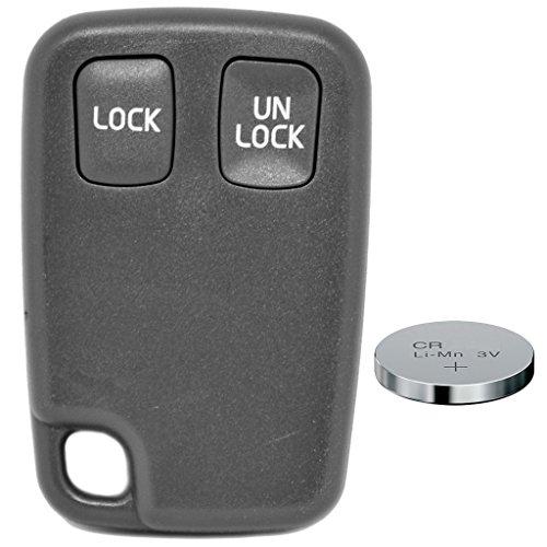 Auto Schlüssel Funk Fernbedienung 1x Fernbedienung Gehäuse 2 Tasten + 1x CR2032 Batterie für Volvo