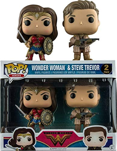Set 2 Figuras Pop! DC Wonder Woman Movie Wonder Woman & Steve Trevor Exclusive