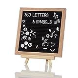 Lumaland Letter Board Memo Buchstabentafel Holzrahmen und Ständer 360 Buchstaben