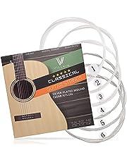 Gitarrensaiten von Villkin - Premium Nylon-Saiten für Klassische-, Konzert-& Akustik-Gitarre - 6 Saiten Set
