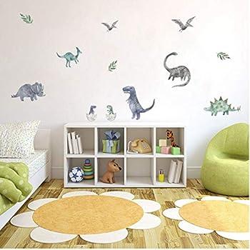 ufengke Wandtattoos Dinosaurier Messen Wandaufkleber Entfernbare B/ücher Wachstum f/ür Kinderzimmer Jungen Schlafzimmer