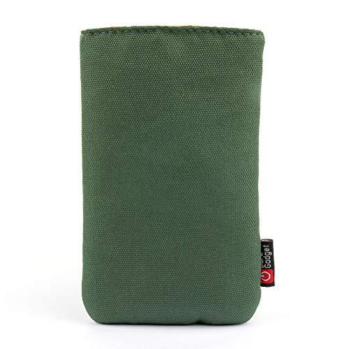 DURAGADGET Schutztasche (grau) mit Gürtelschlaufe & weichem Innenfutter - kompatibel mit Doro 8080 Smartphone für Senioren (5,7 Zoll) Display)