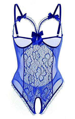 Yutdeng Lencería Mujer Erótica Sexy Ropa Interior Vestido Teddy Lencería Babydoll Bodysuit Atractivo Pijama de Encaje Babydoll Tul Bodysuit