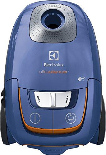 Electrolux EUS8X2SB Aspirapolvere con Sacco Ultrasilencer, Silent Zen, Aspirazione AeroPro, Sacchetto S-Bag Clinic Anti Allergy, Sistema Motion Control, Steel Blue, 3.5 Litri
