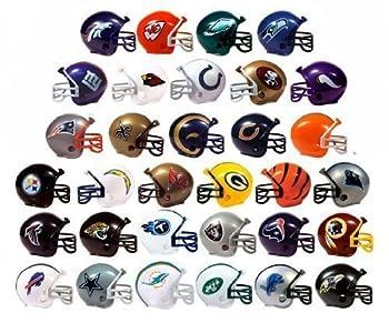 NFL FOOTBALL SET of 32 TEAM 2  VENDING HELMETS - NFL Football Team 2  Vending Helmets Featuring Packers Dolphins Titans Broncos Buccaneers Bills Bears Falcons Vikings Panthers and More