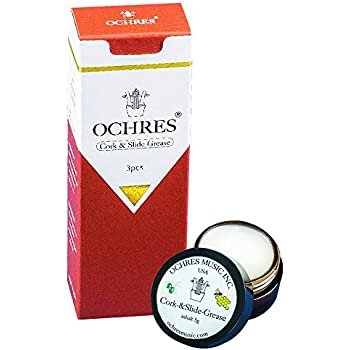 Ochres Music 100% Natural Cork and Slide Grease 3pcs Instrument Grease Set