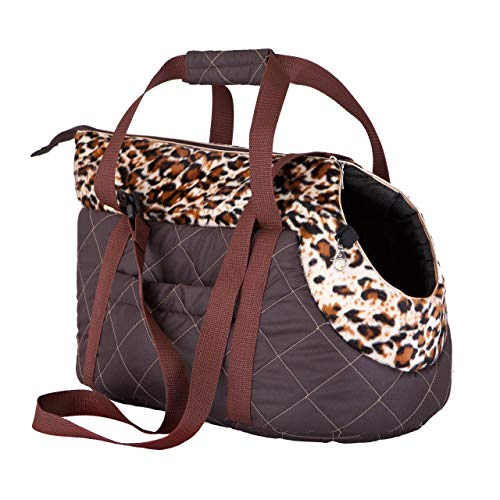 Find Bargain Hobbydog Transport Bag for Dogs and Cats, Size 1, Brown with Panther Design