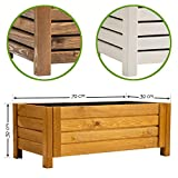 BooGardi Jardinière en bois • Jardinière en 3 couleurs et 2 tailles 79x39x30cm Blanc.