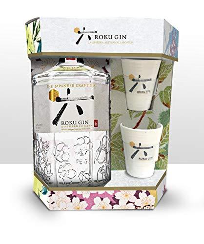 Roku Ginebra Artesanal Japonesa + 2 Vasos, 43% - 700 ml