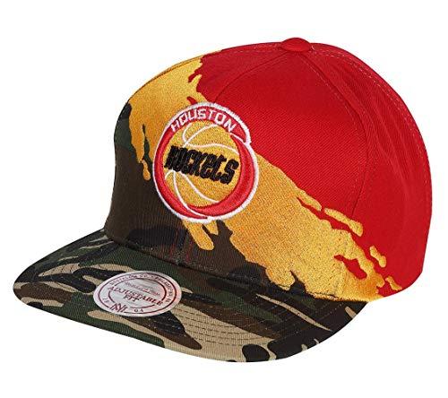 Mitchell & Ness Snapback Cap Paintbrush Houston Rockets camo red
