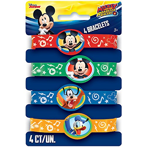 Unique Industries Disney Mickey Roadster Stretchy Bracelets, 4ct
