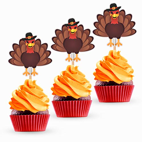 Turkey Thanksgiving Cupcake Toppers And Food Picks