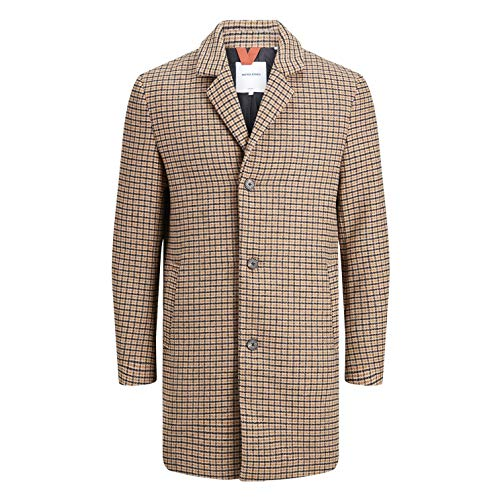 JACK & JONES JORBLINDERS Wool Coat 2.0, Kombi(brownstonecheck), Gr. XL