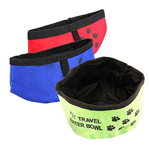 Rrunzfon Schale Notebook Faltbar für Haustiere Cat Dog Bowl Reise Pet Bowl Farbe zufällig