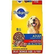 PEDIGREE Adult Complete Nutrition Grilled Steak & Vegetable Flavor Dry Dog Food 20.4 Pounds
