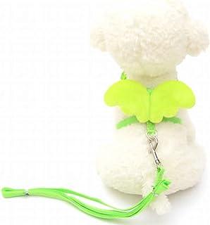 Anglayif Dog Harness Wing Decoration Walking Comfort Padded Vest Harnesses Adjustable Size (Color : Green, Size : XS) Joys...