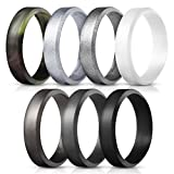 Saco Band Silicone Rings for Men - 7Pack &...