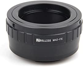 Dollice Lens Mount Adapter Suit for M42 Screw Mount Lens to Fujifilm X Fuji FX Camera X-T20 X-A10 X-A3 X-T2 X-Pro 2 X-E2S X-T10 X-T1 X-A2 Fujifilm X-Series Camera Adapter with Macro