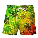 APCHYWEII Pantalones Cortos De Playa Troncos Estampados para...
