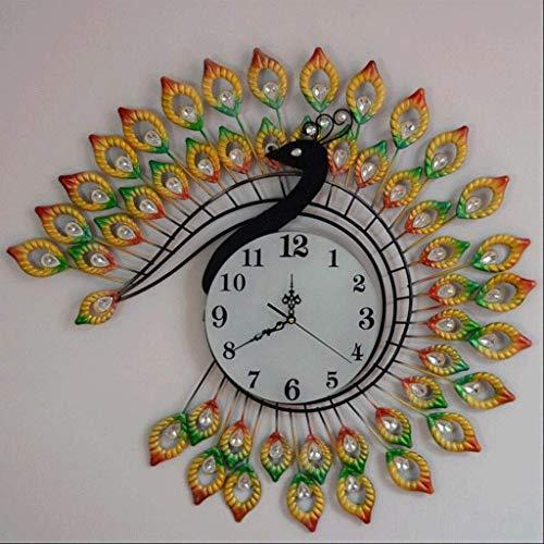 Yxxc Horloge murale, horloge murale paon Salon horloge murale créative horloge d'art muet horloge à Quartz horloge murale