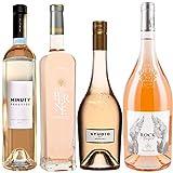 Best of Provence - Lot de 4 bouteilles - Minuty Prestige - Terre de Berne - Studio de Miraval - Esclans Rock Angel - Côtes de Provence Rosé 2019 (4 * 75cl)