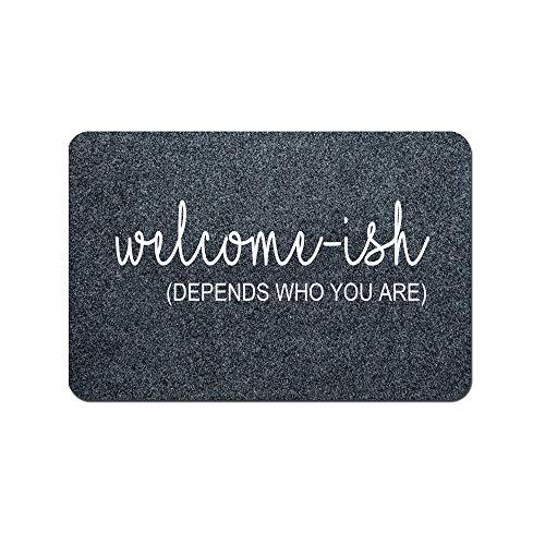 Funny Doormat Custom Indoor Doormat -Welcome Depends Who You are Doormat Funny Front Mats Home and...