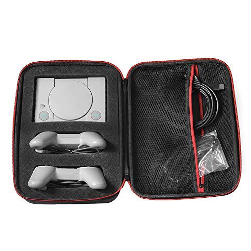 Étui de transport pour Mini PlayStation Classic PS1 câbles contrôleurs de console, sac de rangement antirouille imperméable, portable pour le voyage