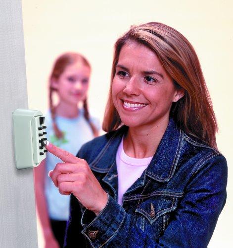 Kidde AccessPoint 001413 KeySafe Original Slimline Push Button Combination Permanent Key Lock Box, 2-Key, White