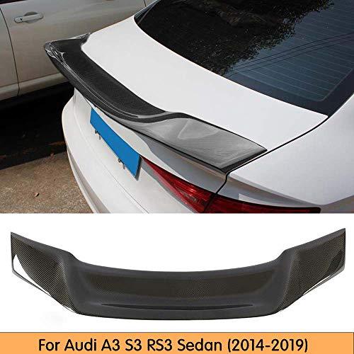 GLFDYC Auto Fibra di Carbonio Spoiler Posteriore, per Audi A3 S3 RS3 2014-2019 Car Rear Trunk Esterna Coda Ala Decorazione, Universale Modificata Bagagliaio Tetto Wing