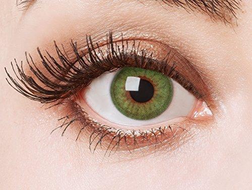 aricona Kontaktlinsen - natürlich grüne Jahreslinsen ohne Stärke - deckende Kontaktlinsen farbig grün ohne Stärke, 2 Stück