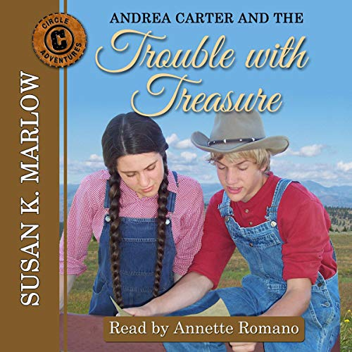 Andrea Carter and the Trouble with Treasure audiobook cover art