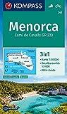 KOMPASS Wanderkarte Menorca: 3in1 Wanderkarte 1:50000 mit Aktiv Guide und Detailkarten bis 1:9000. Fahrradfahren. (KOMPASS-Wanderkarten, Band 243) - KOMPASS-Karten GmbH
