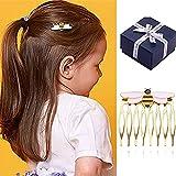 Peines laterales para el pelo, peines para el pelo, diseño de abeja reina y abeja, pinzas decorativas para el pelo para mujeres y niñas, accesorios de moda para niñas