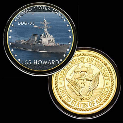 U.S. United States Navy | USS Howard DDG-83 | Gold Plated Challenge Coin