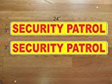 Yellow and Red Security Patrol Magnetic Signs to fit Car, Tow Truck, Van SUV us dot Approved Size