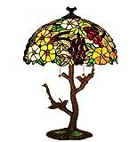 Tiffany Style Lámpara De Mesa Hecha A Mano De 17 Pulgadas Lámpara E27 Lámpara Soporte De Aleación De Zinc Lámpara De Mesa Decorativa