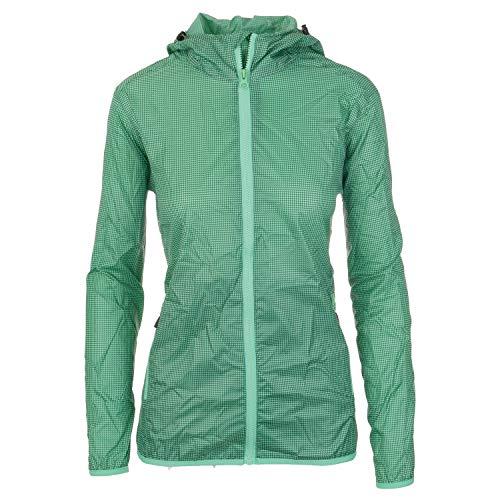 Regenjacke Damen packbar atmungsaktiv und wasserdicht mit Kapuze Outdoorjacke dünn und leicht verstaubar mit 3000 mm Wassersäue von CMP für Sport Monsuna, Größe:36, Farbe:Grün